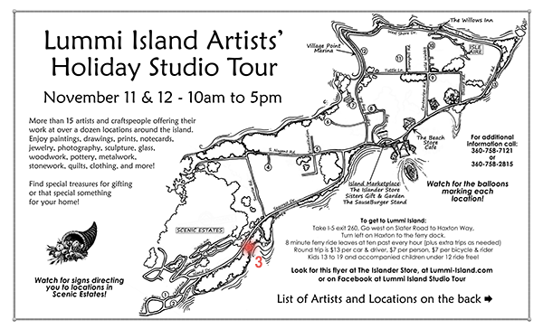 2017 Holiday Lummi Island Artists' Studio Tour